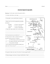 ancient egypt geography 6th 8th grade worksheet lesson planet