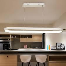 Led Pendant Lights Oval Shape 1200mm Length Modern Led Pendant Lights For Dining Room