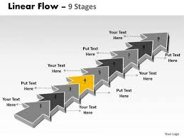 ppt background 9 stages linear means free fishbone diagram
