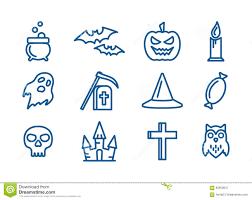 halloween line art line art vector icons set for halloween stock vector image 60950647