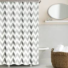 decor exciting chevron curtains for inspiring shower curtain ideas exciting chevron curtains with oval mirror and wicker basket for modern bathroom design