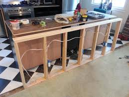 making kitchen island particleboard raised door pacaya kitchen island with wine fridge