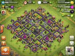 layout vila nivel 9 clash of clans town hall level 9 bases google search th 9 layouts clash of