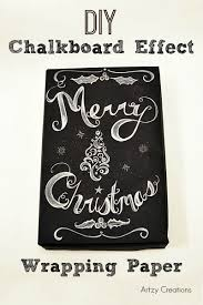 chalkboard wrapping paper diy chalkboard effect wrapping paper artzycreations