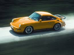 ruf porsche wide body amazing color for this porsche looks great yellow car