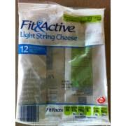 carbs in light string cheese fit active light string cheese calories nutrition analysis