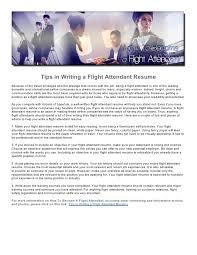Flight Attendant Resume Samples by Flight Attendant Resume Tips Writing Resume Sample Writing