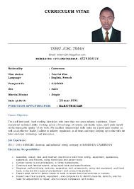 Resume Electrician Sample Microsoft Resume Templates For Freshers Clinical Psychology