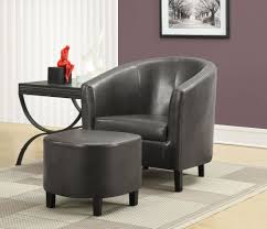 small leather chair with ottoman charcoal gray accent chair with ottoman from monarch 8054