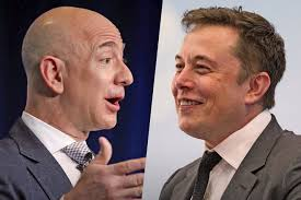Elon Musk Or Bromance Elon Musk And Jeff Bezos Tweet Each Other Ahead Of