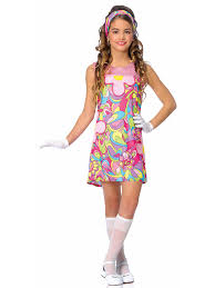 groovy child costume cheap 60s costumes for girls 70 u0027s