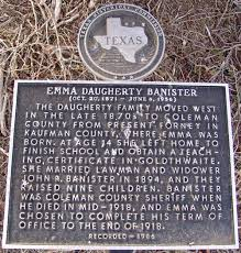 Joseph R Banister Banister Emma Daugherty The Handbook Of Texas Online Texas