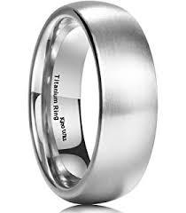comfort fit titanium mens wedding bands king will basic 7mm titanium ring stainless steel brushed matte