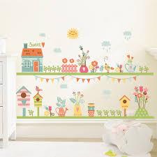 stickers cuisine enfant conte de fées famille jardin fleur home stickers muraux salon
