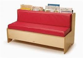 single reading kids couch w storage red for waiting rooms made in