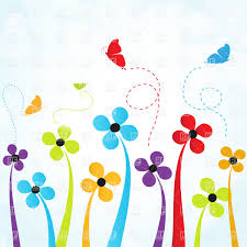 simple flowers and butterflies vector clipart image 21962 u2013 rfclipart
