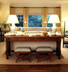 Decorating A Sofa Table Behind A Couch Console Table Behind Couch Against Wall Between And Next To