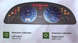 citroen xsara dashboard warning lights u0026 symbols youtube