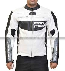 white leather motorcycle jacket fast and furious 7 premiere vin diesel white leather jacket