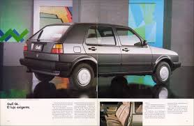 volkswagen golf 1989 thesamba com vw archives 1989 vw golf brochure mexico