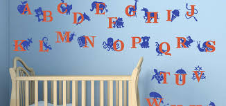Wall Decal Kids Room Alphabet With Animals - Alphabet wall decals for kids rooms
