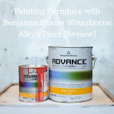 painting furniture with benjamin moore advance waterborne alkyd