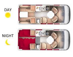 Luxury Rv Floor Plans 19 Ft Van Conversion Rv Rentals