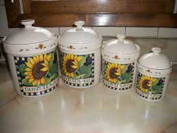 beautiful kitchen canisters sunflower kitchen decor ideas kenaiheliski com