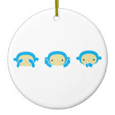 three wise monkeys ornaments keepsake ornaments zazzle