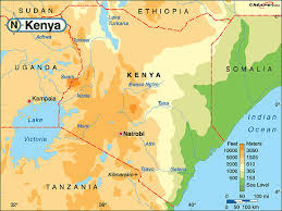 geographical map of kenya world map of kenya