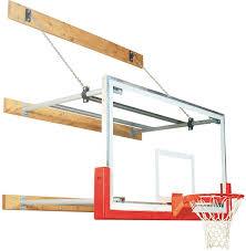Adjustable Basketball Hoop Wall Mount Bison Wall Mounted Basketball Hoop W Glass Backboard 4 U0027 6 U0027 Extension