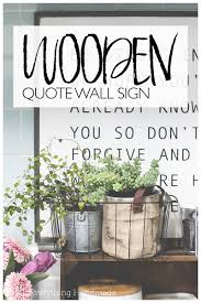 wooden quote wall sign by oh everything handmade