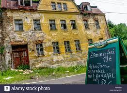 an abandoned house jachymov west bohemian spa town czech