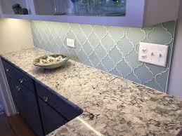 glass mosaic tile kitchen backsplash jasper blue gray arabesque glass mosaic tiles rocky point tile