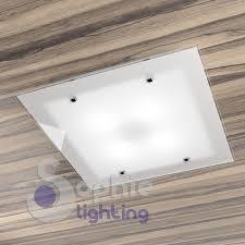 plafoniere a soffitto moderne plafoniera soffitto bagno design moderno acciaio vetro satinato bia