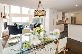 Contemporary Home Staging Moving Mountains Design Los Angeles - Dining room staging