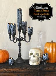 halloween toilet paper roll candles make life lovely