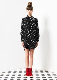 kirrily johnston double breasted shirt dress star print kirrily