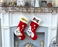 cute dog cute cat whimsical christmas stockings personalized