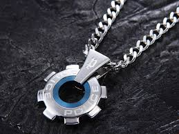 stainless steel necklace pendant images Trend watch police necklaces police stainless steel mens necklace jpg