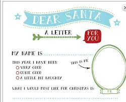 father christmas letters template template idea