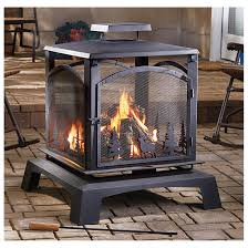 Patio Heater Lights by Castlecreek 360 Northern Lights Fire Pit Create A Warm Soothing
