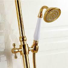 Peerless Bath Faucet Gold Brass Bathroom Outside Shower Heads And Faucets