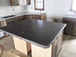granite kitchen island meteor shower granite with chiseled edge custom home accents
