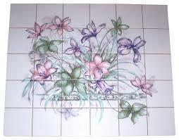 Ceramic Tile Mural Backsplash by Lavender Lilly Kiln Fired Ceramic Tile Mural Sage Green Backsplash