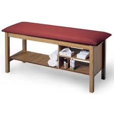 hausmann hand therapy table treatment table with shelf and cubby therapy table hausmann