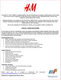 Resume Sample For Merchandiser Download Visual Merchandising Resume Sample Haadyaooverbayresort Com