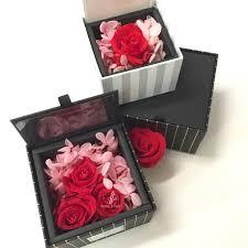 enchanted black floral box preserved rose u2013 fiore folio