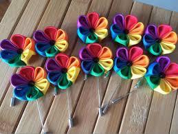 lapel flower wedding party rainbow pins lgbt lapel flower badge 70 pieces