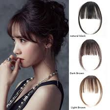 hair extensions for thinning bangs amazon com ugeat air fringe bangs clip in hair extensions front